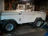 White 1967 Nissan Patrol in Garage