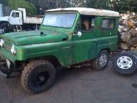 Green 1968 Nissan Patrol Front Driver Side View